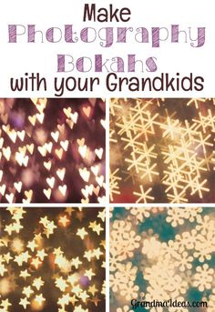 Tweens and teens will love making bokah templates to use while taking pictures. It's so easy to do with some tape, card stock, and a decorative hole punch.