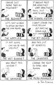 8 Types of Bad Creative Critics (Image: http://penguincreative.com/2009/03/the-8-types-of-bad-creative-critics)