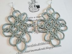 Gwenn - orecchini a chiacchierino - tatting earrings