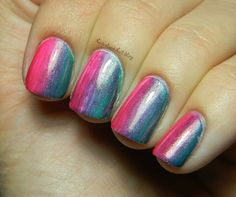 Neverland Nail Blog: Fan Brush Gradient Mani + Tutorial!