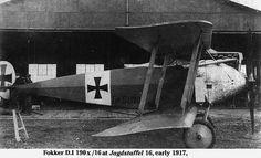Fokker D.I at Jagdstaffel 16, early 1917