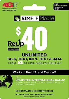 Simple Mobile, Pre Paid, Phone Service, Day Plan, Text Messages, High Speed, Physics, It Works, How To Plan