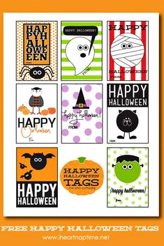 Happy Halloween Tags {free printable}