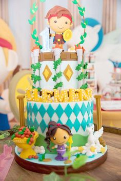 What a great cake at a Hercules birthday party! See more party ideas at CatchMyParty.com!