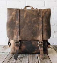 One of those backpacks that you would carry for the rest of your life. :: No. 42 Leather Backpack by Stock & Barrel