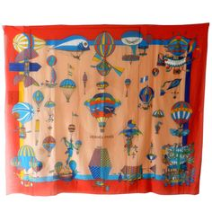 Hermes Large Cotton Beach Pareo Scarf | From a collection of rare vintage scarves at http://www.1stdibs.com/fashion/accessories/scarves/