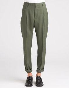 Lanvin Pantaloni a Due Pinces, Fondo Gamba 17 Cm - Uomo - Lanvin Online Store - Primavera/Estate 15 Uomo. Spedizione in tutto il mondo.