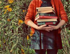 Book Portrait,  8x10 Photograph, September,  School Girl with Books Print. $22.50, via Etsy.