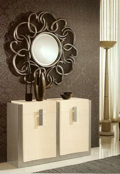 Espejo Cadenas en color plata
