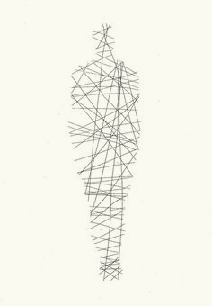 Antony Gormley- This May be one of the most interesting simple line drawings I've seen. There is no outline, which leaves the figure feeling incomplete, yet it is a full figure with the arrangement of line Human Figure Drawing, Body Drawing, Life Drawing, Drawing Tips, Antony Gormley, Simple Lines, Simple Art, Photographie Art Corps, Stylo 3d