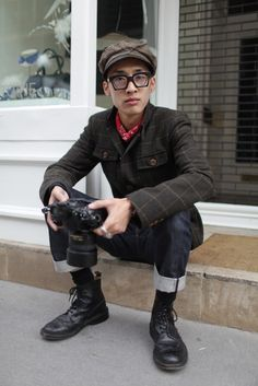I want this whole look - Youngjun Koo - http://www.koo.im - at London Fashion week  | Photographer: Kuba Dabrowski | Via: wwd.com