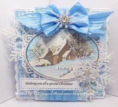Stampendous snowy postcard.
