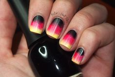 30 days of world cup nails!  lots of love for Germany  Follow us for more posts like this! ♥ Agoraphobix Www.agoraphobix.com
