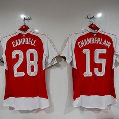 Back of the Shirt. Joel Campbell and Alex Oxlade-Chamberlain. Arsenal Shirt 05e443c4b