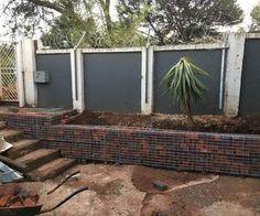 simple gabion retaining wall 1, concrete masonry