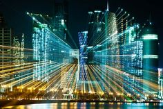 Urban-zoom-2. German Photographer Jacob Wagner, who uses the zoom involved in long exposure photography to give us a bright and dynamic vision of the great cities of the world…