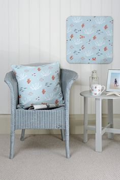 A wonderful collection of homewares and accessories from Sophie Allport featuring quirky fish, coral, lobsters and crabs on a pale marine blue background. A lovely summer design perfect for holidays, coastal homes and nautical themed interiors. You'll find plenty of practical kitchen accessories and lots of gift ideas.