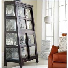 Hooker Furniture Mélange Angle Design Curio in Black Finish