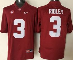 Men's Alabama Crimson Tide #3 Calvin Ridley Red College Football Jersey
