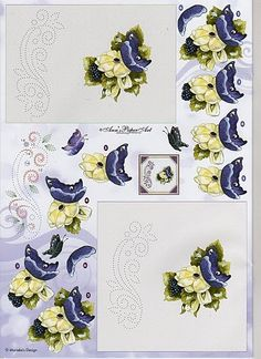 patron cartes brodees - Page 28 Card Patterns, Stitch Patterns, Paper Art, Paper Crafts, Decoupage Printables, Embroidery Cards, 3d Pattern, Edge Stitch, String Art