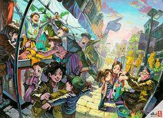 Japanese Illustration, Illustration Art, Drawing Scenery, Human Sketch, Perspective Art, Korean Art, Human Art, Art Inspo, Art Reference