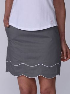 """Check out what #lorisgolfshoppe has for your days on and off the golf course: Grey Golftini Ladies 17.5"""" or 19"""" TRUTH OR DARE Stretch Cotton Golf Skort"""