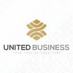 Logo Design of a mark or symbol made from swooshes or curved lines For Sale On StockLogos | United Business logo