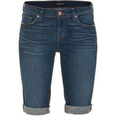 J BRAND 1049 Low-Rise CUffed Short Eastwick Slim cut denim bermudas ($300) ❤ liked on Polyvore
