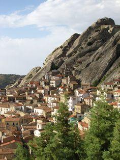 Pietrapertosa, a beautiful village on top of a mountain. Basilicata, Italy.