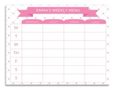 Personalized Dots Meal Planner