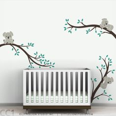Koala Tree Branches Wall Decal by LittleLion Studio. $79.00, via Etsy.  Australian themed nursery would be so cute!