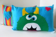 Felt pillow. That's one cute monster!