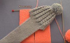 orgu-atkili-bebek-cocuk-beresi-yapilisi Crochet For Kids, Crochet Baby, Knit Crochet, Baby Vest, Knitting Videos, Kids Hats, Crochet Fashion, Baby Knitting Patterns, Beanie Hats