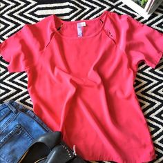 Alya pink top New no tag. Alya pink top. 100% polyester. Size small, runs smaller. 🌷 Looks great with jeans, shorts and skirt. A must have! Alya Tops Blouses