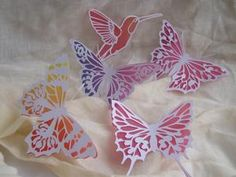 View 4 BUTTERFLIES and HUMMING BIRD SVG Details