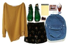 """""""The middle ground, it bores me"""" by tarynasaurus ❤ liked on Polyvore featuring Dr. Martens, Thakoon Addition and J.Crew"""