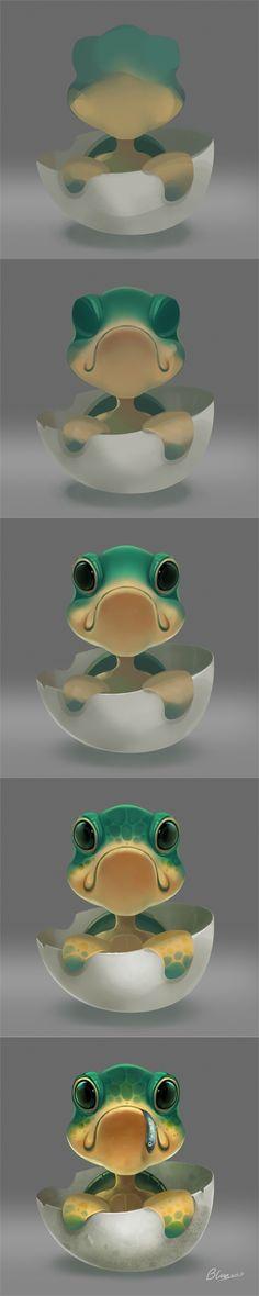 Speed Painting Frog - 猫10块采集到A爱看·教程·好孩子(154图)_花瓣平面设计