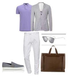 """Outfit elegante masculino"" by maria-jose-aramburu-argandar on Polyvore featuring Polo Ralph Lauren, Topman, Dsquared2, Lanvin, Louis Vuitton, men's fashion y menswear"