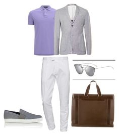 """Outfit elegante masculino"" by maria-jose-aramburu-argandar on Polyvore featuring Polo Ralph Lauren, Topman, Dsquared2, Lanvin, Louis Vuitton, men's fashion y menswear"