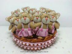 Ursinhas marrom e rosa