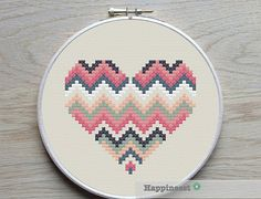 A set of 3 geometric heart patterns. Try different color combinations and fabrics to create a new look every time! The pattern comes as a PDF file that youll will be able to download immediately after purchase. In addition the PDF files are available in you Etsy account, under My Account