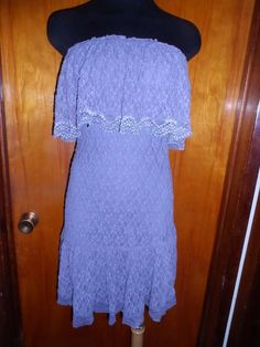 Victoria's Secret Moda International Lavender Strapless Lace Ruffled Dress S New #ModaInternational #Sundress #Casual