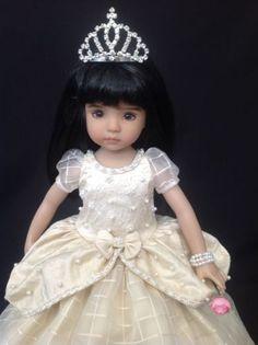 "Silk Embroidered Princess Ensemble for Dianna Effner's 13"" Little Darling Dolls"