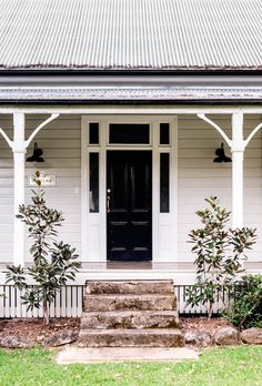 Renting A House, House Exterior, Weatherboard House, House Paint Exterior, House Design, Front Door, House Painting, House Colors, Cottage Exterior