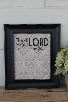 For a faith-based gratitude board. Family members or guests could write on this before the formal sit-down.