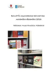 Boletin sumarios revistas novembro decembro 2016