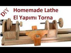 Making a Homemade Lathe -- El Yapımı Torna Makinası - YouTube
