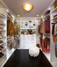 Modern White Walk in Closet - modern - closet - los angeles - Kay Wade, Closet Factory, VP-Head Designer Diy Custom Closet, Custom Closet Design, Walk In Closet Design, Custom Closets, Closet Designs, Diy Walk In Closet, Closet Walk-in, Closet Ideas, Closet Space