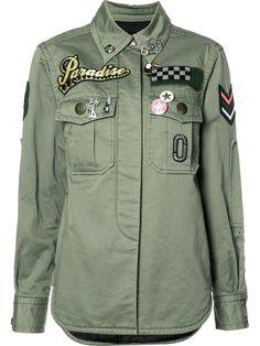 Marc Jacobs рубашка с заплатками в стиле милитари