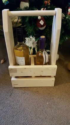 Double Wine Carrier. Available from The Vintage Ewe.